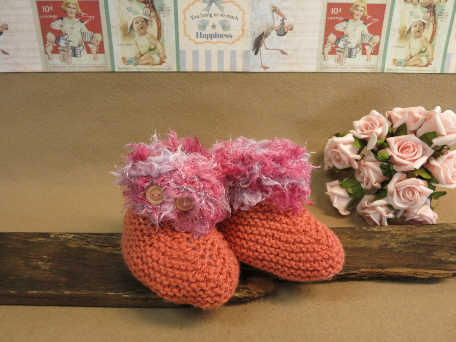 Clearance-Sale-Purple-Pink-and-Orange-Knitted-Slippers-Nchanted-Gifts