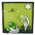Load image into Gallery viewer, Reindeer-and-Sleigh-Wall-Clock-Nchanted-Gifts