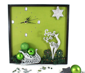 Reindeer-and-Sleigh-Wall-Clock-Nchanted-Gifts