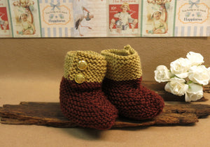 CLEARANCE-SALE-Knitted-Brown-Tan-Baby-Shoes-Nchanted-Gifts