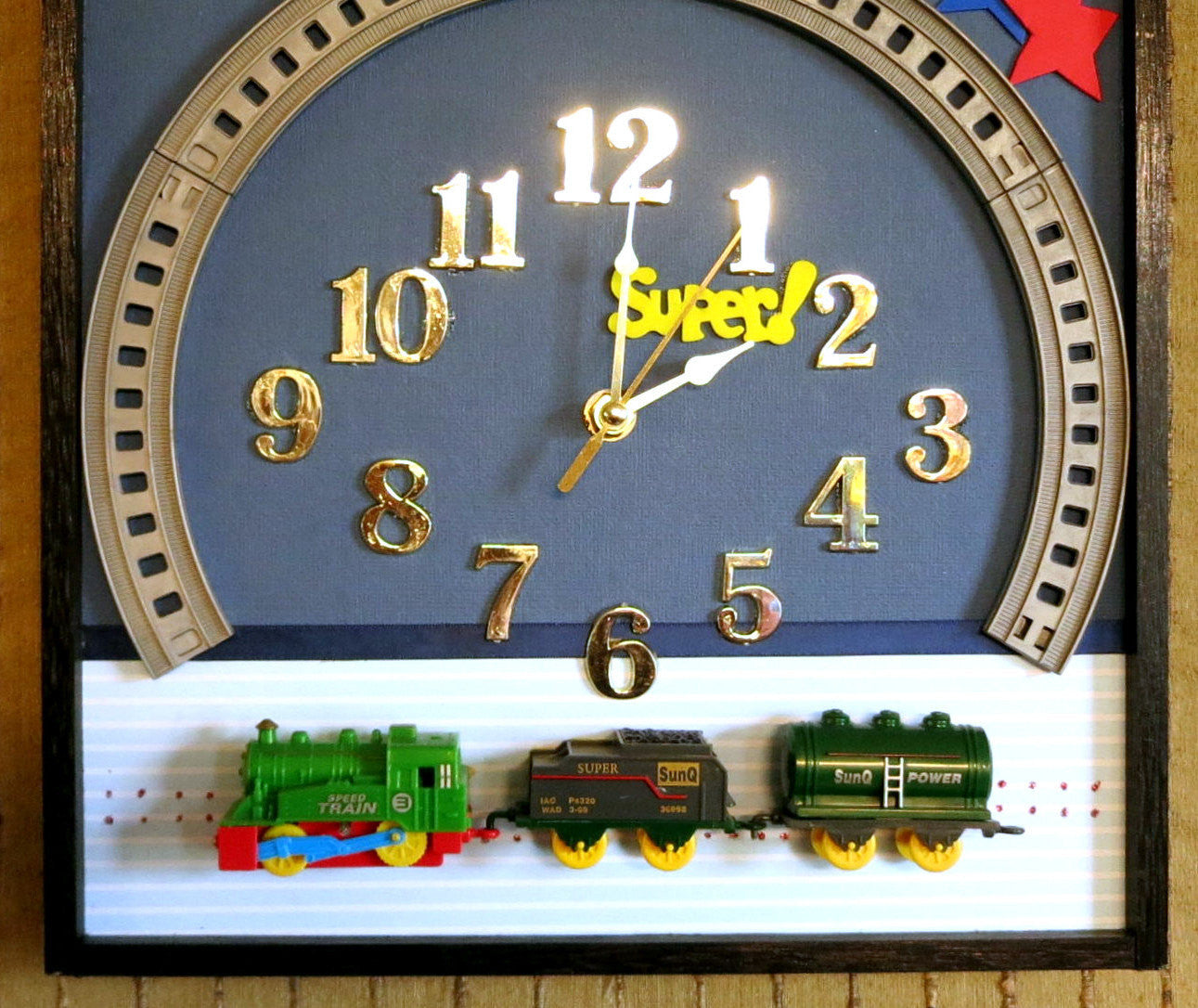 Children's-Train-Wall-Clock-Nchanted-Gifts