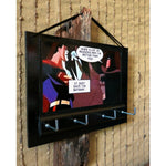 Load image into Gallery viewer, Key-Rack-Holder-Superman-Batman-Print-Nchanted-Gifts