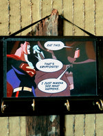 Load image into Gallery viewer, Superman-Batman-Print-Key-Rack-Holder-Nchanted-Gifts