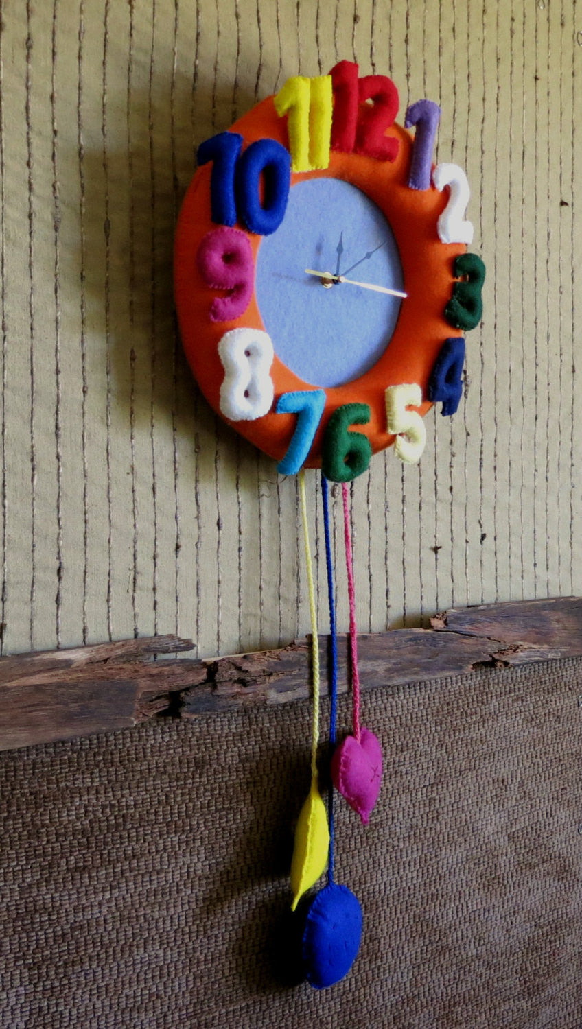 Nursery-Felt-Wall-Clock-Nchanted-Gifts