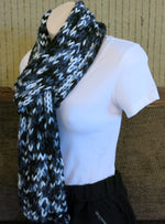 Load image into Gallery viewer, Cable-Black-Grey-Scarf-Nchanted-Gifts