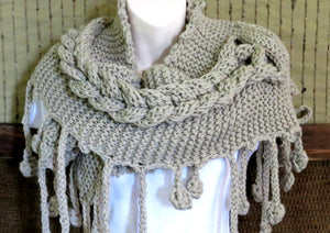 Cable-Knitted-Boho-Scarf-Wrap-Nchanted-Gifts