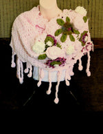 Load image into Gallery viewer, Handmade-Wool-Flower-Shawl-Nchanted-Gifts