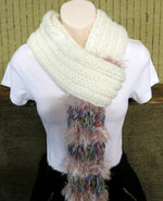 Load image into Gallery viewer, Thick-Pink-Fluffy-Wool-Scarf-Nchanted-Gifts