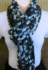 Cable-Black-Grey-Scarf-Nchanted-Gifts