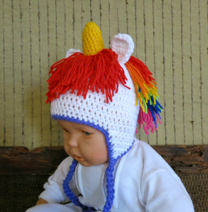 Unicorn-crochet-baby-beanie-Nchanted-Gifts