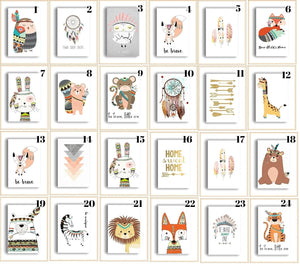 Children's-Animal-Wall-Prints-Nchanted-Gifts