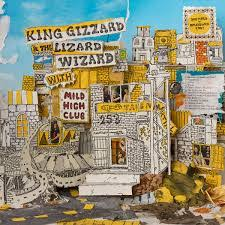 King Gizzard & The Lizard Wizard - Sketches of East Brunswick (Yellow w/ Sky Blue Splatted)