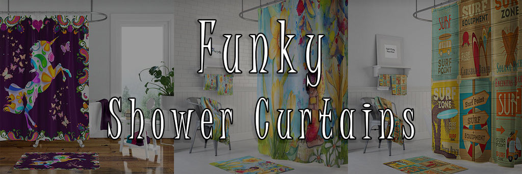 Funky Shower Curtain Banner