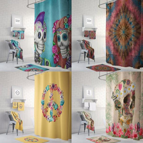 Hippie & Tie Dye Shower Curtains