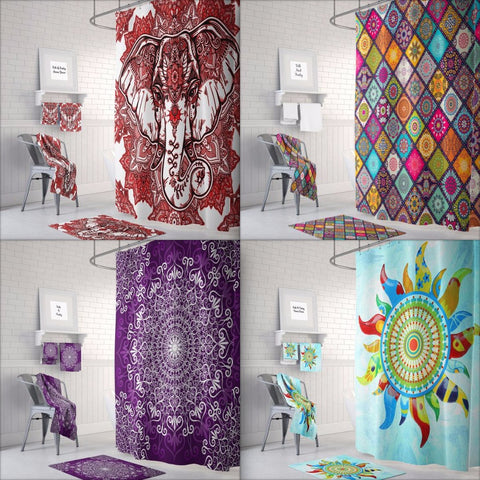 Mandala Design Shower Curtains
