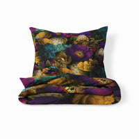 Purple Hipster Llama Comforter or Duvet Cover , Twin, Full, Queen , King, Throw Pillow