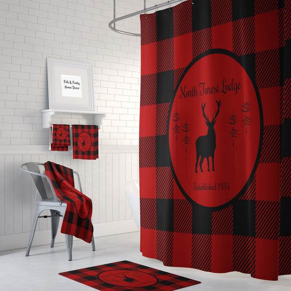 The Lumberjack Plaid Lodge Shower Curtain
