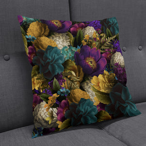 Romantic Floral Throw Pillow