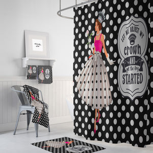 Retro Shower Curtain, Funny Bathroom Decor