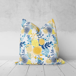 French Country Floral Throw Pillow
