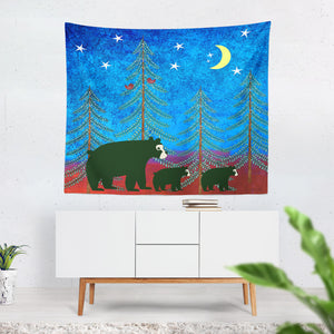 Lodge Chic Bear Wall Tapestry