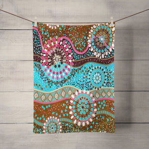 Pink and Brown Boho Shower Curtain Optional Accessories