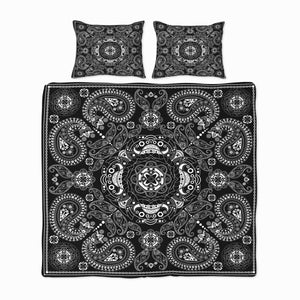 Black Bohemian Bandanna Bedding Set