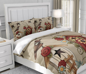 Black Birds and Birdhouses Country Chic Bedding