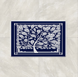 Hopes Tree Shower Curtain Optional Set Blue and White