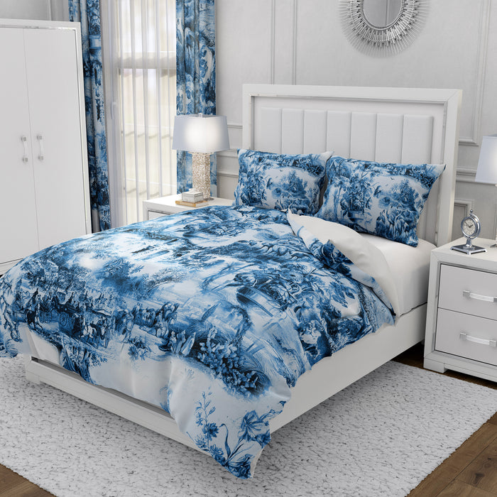 Chinoiserie Blue Bedding
