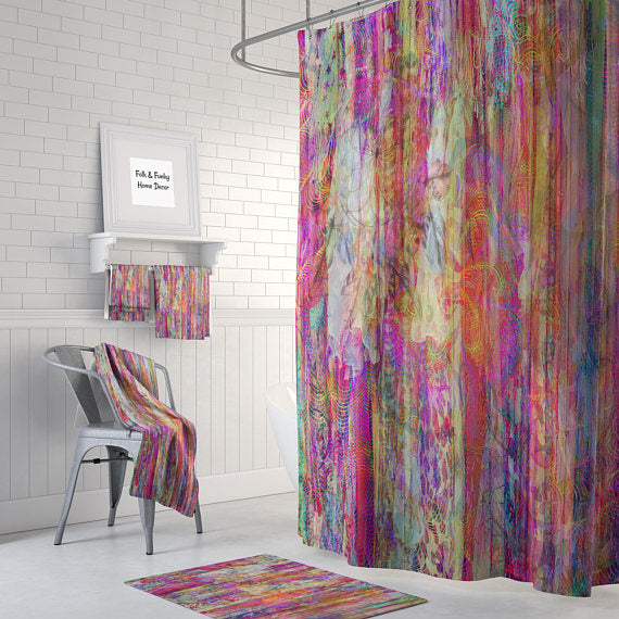 Color Crush Boho Shower Curtain