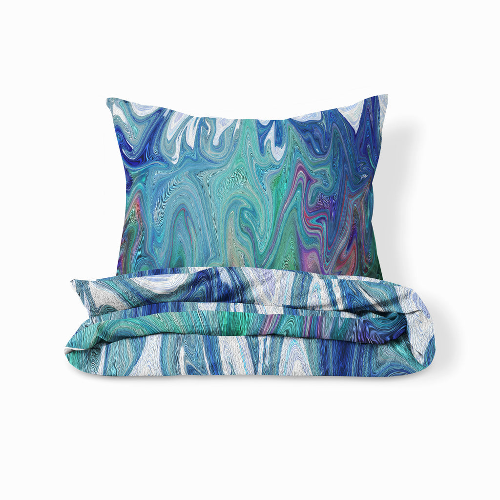Blue Bohemian Swirl Bedding Duvet Cover Set Or Comforter Set