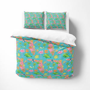 Tropical Florida Theme Comforter or Duvet Cover