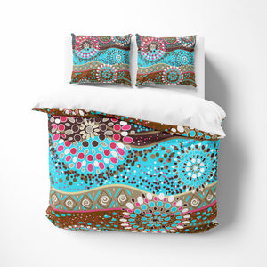Boho Abstract Floral Comforter or Duvet Cover