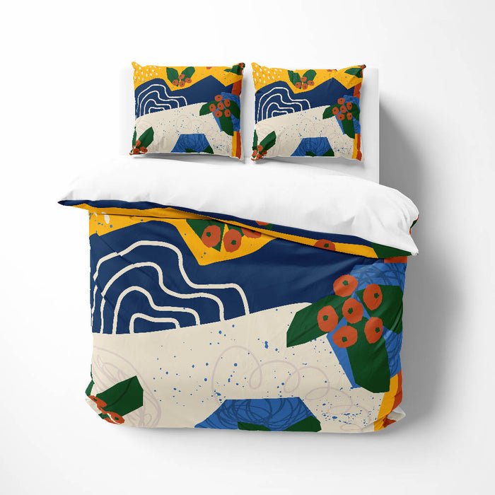 Blue Memphis Abstract Comforter or Duvet Cover