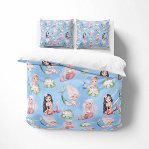Blue Mermaid Comforter or Duvet Cover
