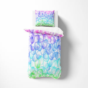 Bubbly Pastel Comforter or Duvet Cover