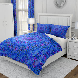 Sea Blue Mandala Batik Bedding
