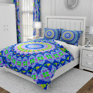 Blue Mandala Tie Dye Bedding