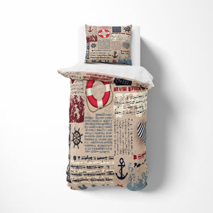 Vintage Theme Nautical Bedding