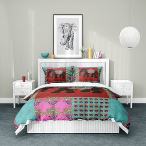 Boho Indie Elephant Bedding