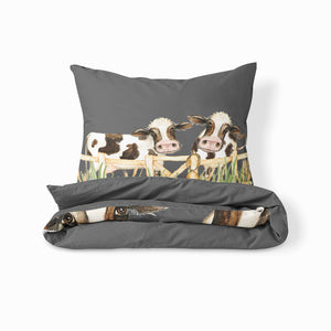 Gray Cow Farmhouse Bedding