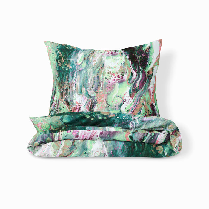 Green Marble Bedding Set