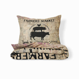 Farmers Market Rustic Farmhouse Bedding