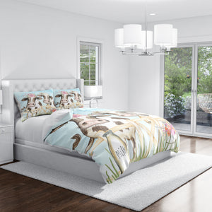 Blue Cow Farmhouse Bedding