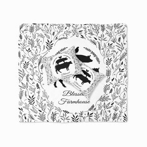 Blessed Farmhouse Bedding, Black and White