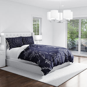 Navy Blue Farmhouse Bedding