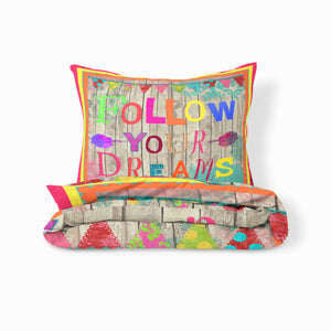 Positive Vibe Colorful Bedding Set