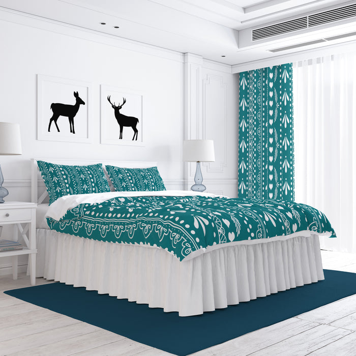 Pioneer Lace Teal Bedding