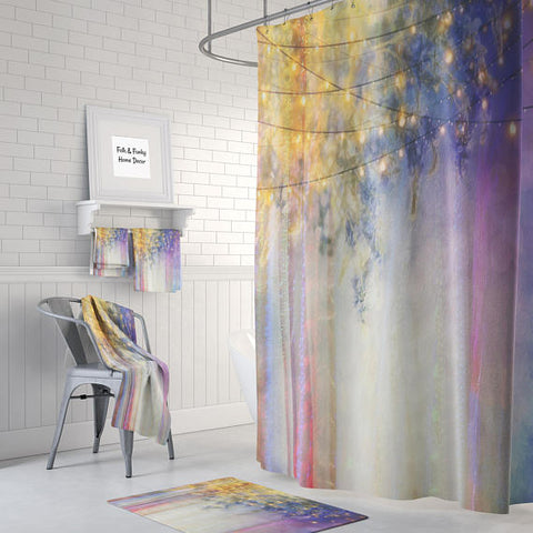 Boho Chic Gypsy Night Shower Curtain by Folk N Funky